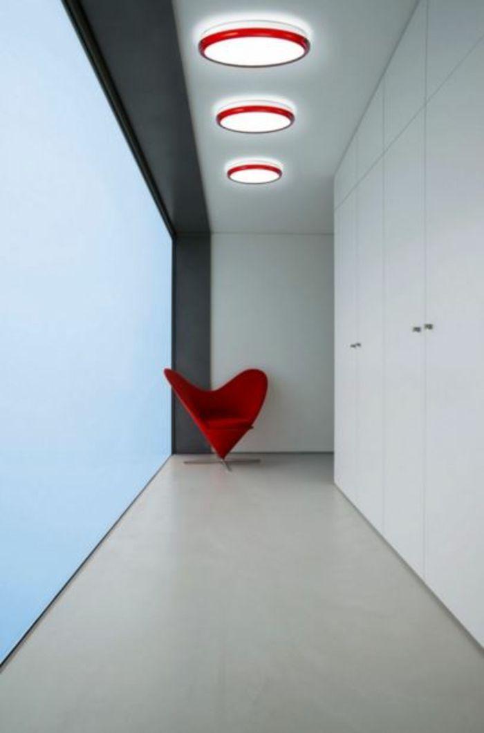 led indirekte asbeleuchtung decke dunkeles interior leuchte - küchenlampen decke led
