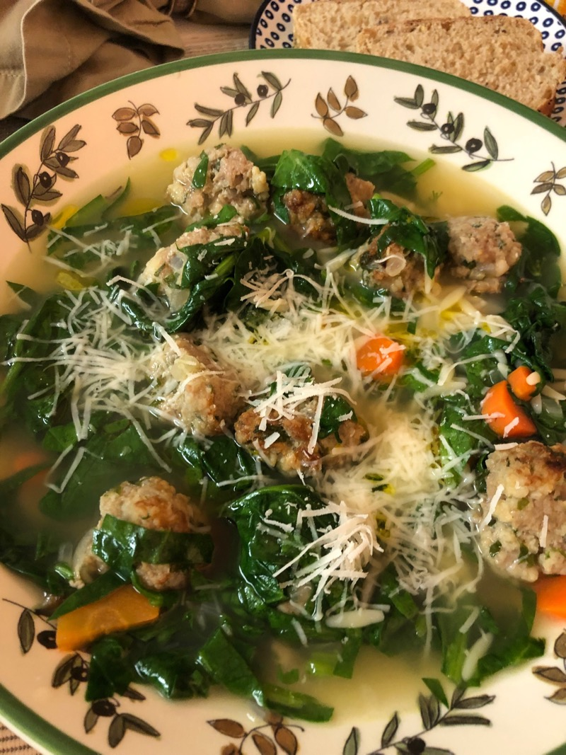 Italian Wedding Soup with Turkey Meatballs Elizabeth