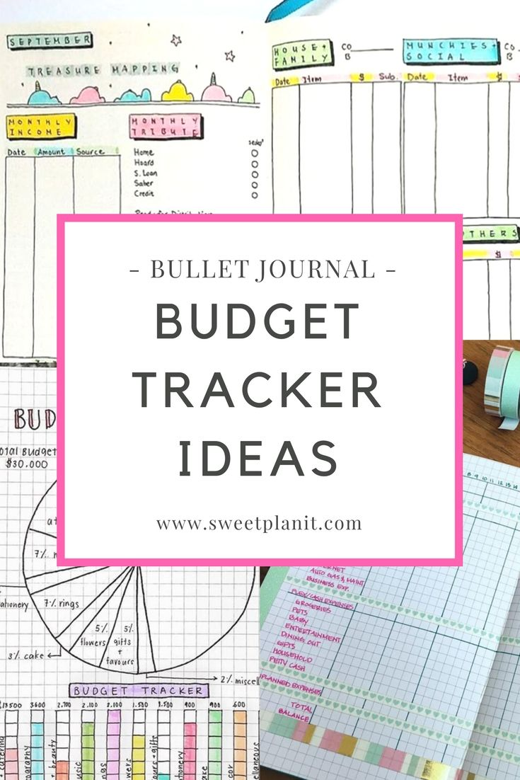 keep track of spending with bullet journal budget trackers lots of