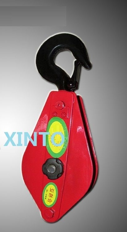0.5Ton with bearing snatch pulley block steel wire rope lifting ...