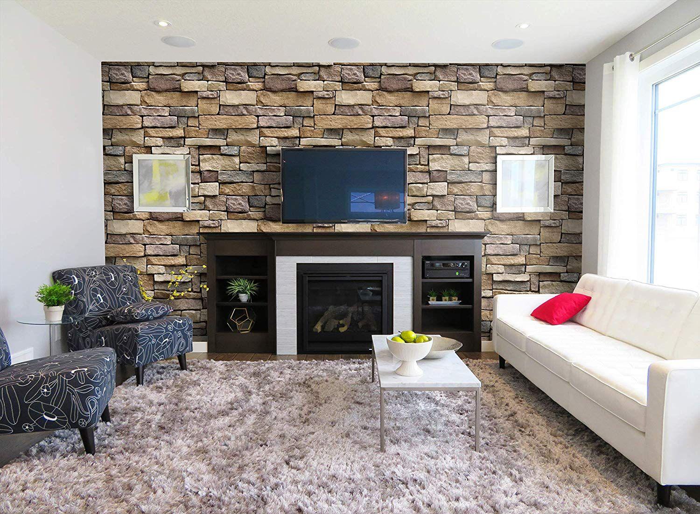 Stone Peel And Stick Wallpaper Self Adhesive Wallpaper Easily Removable Wallpaper Br Brick Wallpaper Peel And Stick Brick Wallpaper White Brick Wallpaper