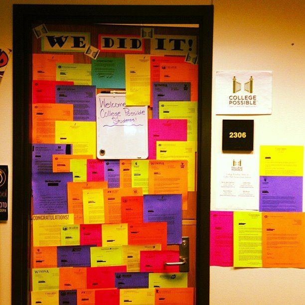 Another great idea for posting college acceptance letters -- would