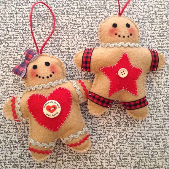 Gingerbread Ornaments / Christmas Tree Ornaments / by CraftsbyBeba