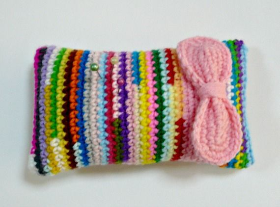 Colorful Crocheted Pincushion | Flickr - Photo Sharing!