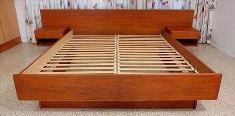 Best Danish Teak Mid Century Modern Platform Bed Complete 400 x 300