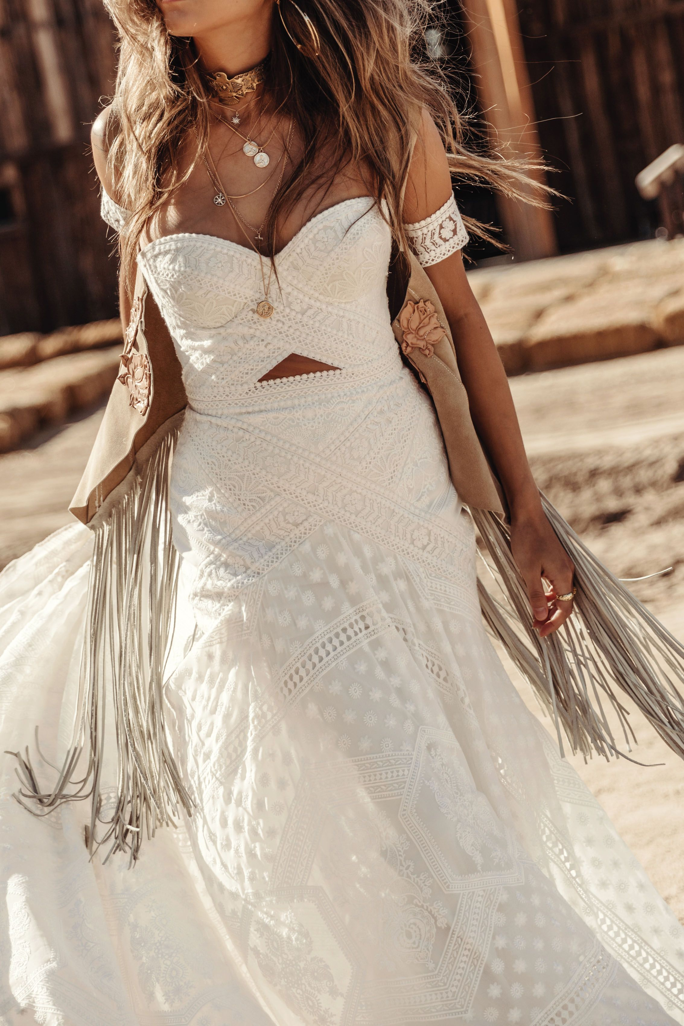 Knoxville Gown By Rue De Seine Moonrise Canyon Collection 2019 Bohemian Wedding Dress Lace Bridal Gown Bohemian Making A Wedding Dress