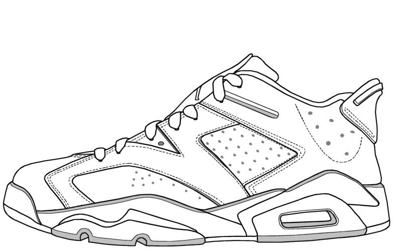 Nike Air Jordan Coloring Page. Could use this as a template and then design  the trainer based on an artist | Coloring pages | Pinterest | Nike air  jordans, ...