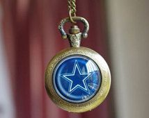Handmade Dallas Cowboys Watch/ Dallas Cowboys  logo Pocket Watch
