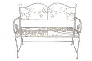gartenbank bank aus metall antikwei lackiert alles. Black Bedroom Furniture Sets. Home Design Ideas