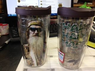 HAPPY.HAPPY.HAPPY.  Our NEW Duck Dynasty Tervis Tumbler are here!!!! Check out all of our Tervis Tumblers, which make great gifts!!! www.facebook.com/richmonds.feed.5
