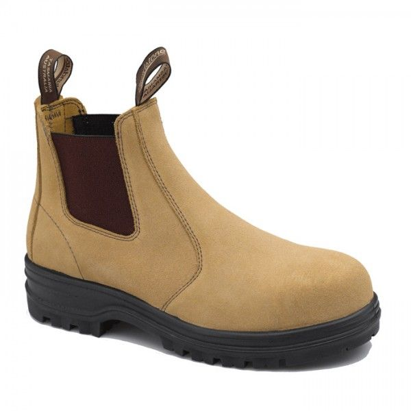 Blundstone Slip On Safety Boots Fawn