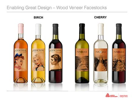 Wine Label  Printed On Wood Veneer Instead Of Paper  Design