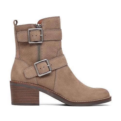 Lucky Brand Castillas Leather Buckle Bootie - Brindle