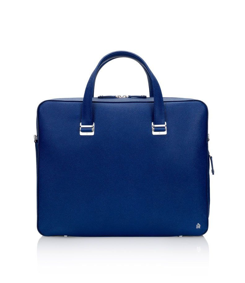 97994169c22a Bourdon Royal Blue Single Zip Briefcase - dunhill