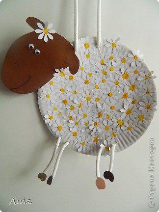 барашек ромашка Daycare Crafts Sheep Crafts Paper Plate Crafts