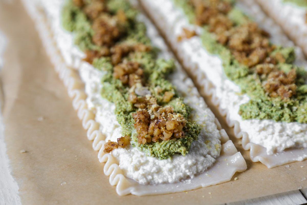 Glutenfree kale pesto lasagna rollups the plant