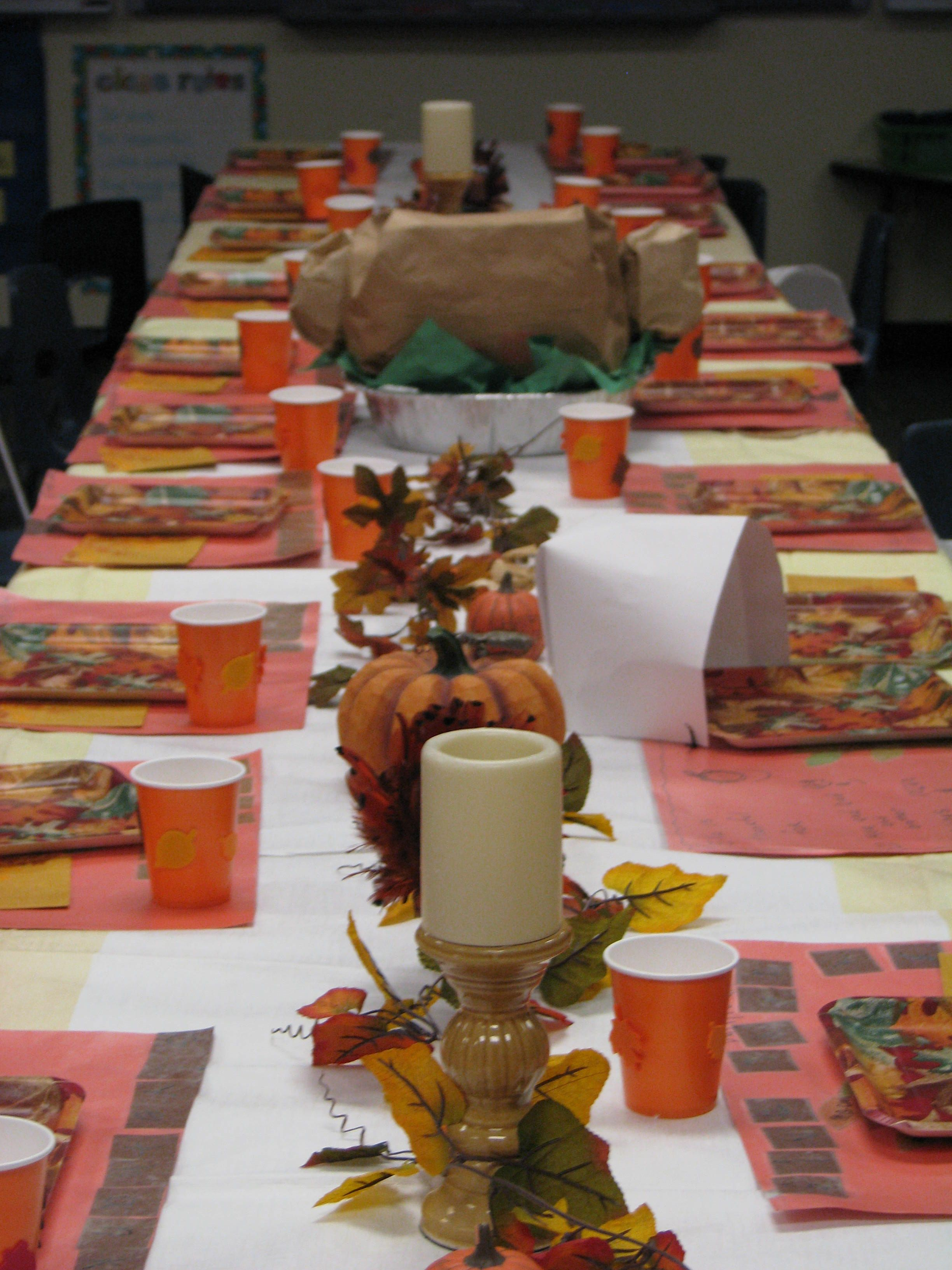 Thanksgiving In The Classroom Thanksgiving Feast Table