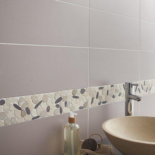 Faïence mur brun taupe n°5, Loft l20 x L502 cm TOILET - pose carrelage mural salle de bain