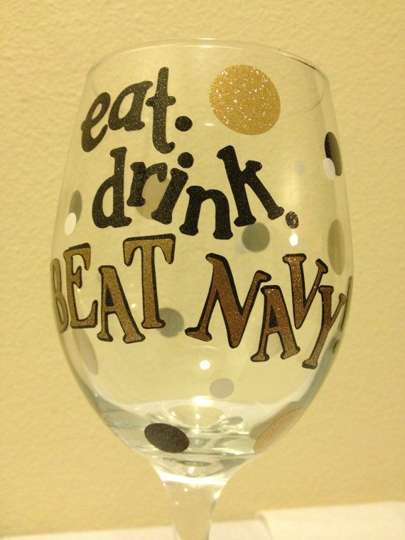 Eat Drink And Beat Navy Sign