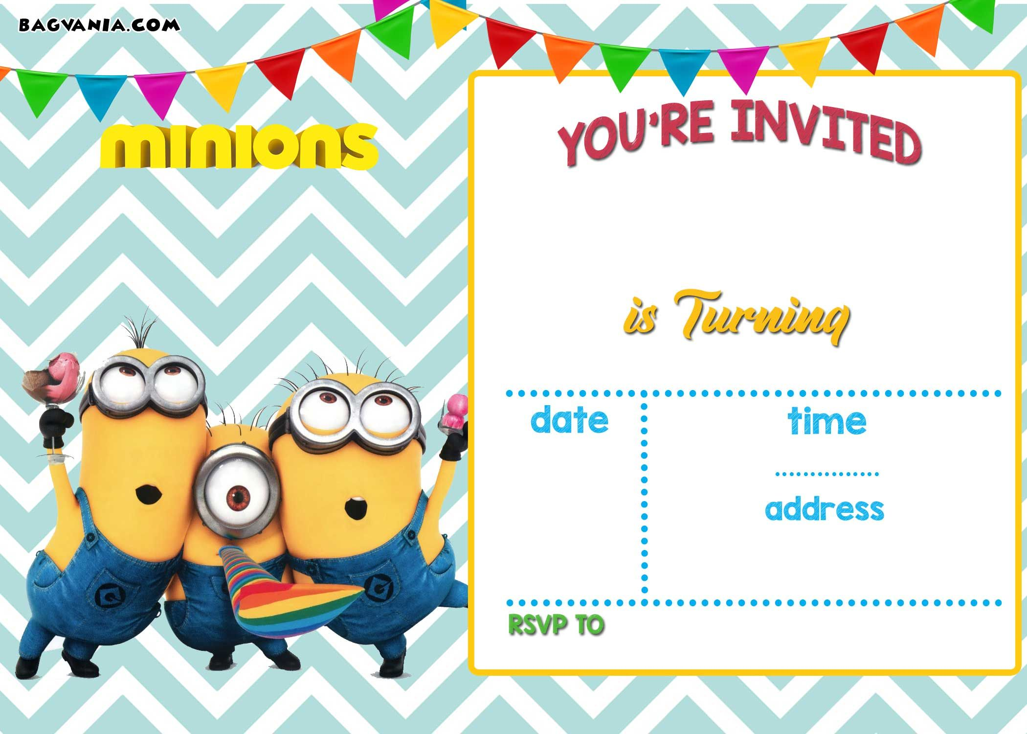 photo regarding Free Printable Minions Birthday Card titled Up-to-date! Bunch Of Minion Birthday Bash Invites Guidelines