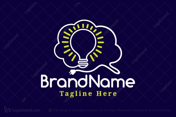 Exclusive Logo 166409, Brain Tech Innovation Logo in 2020