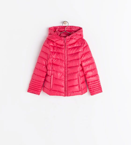 ZARA - KIDS - QUILTED JACKET WITH HOOD