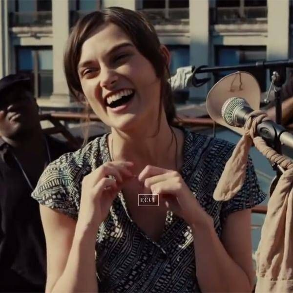 Keira Knightley in a still from the Hollywood film Begin Again. See more of : Keira Knightley