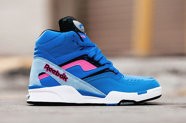 Image of Reebok Twilight Zone Pump Blue/Pink