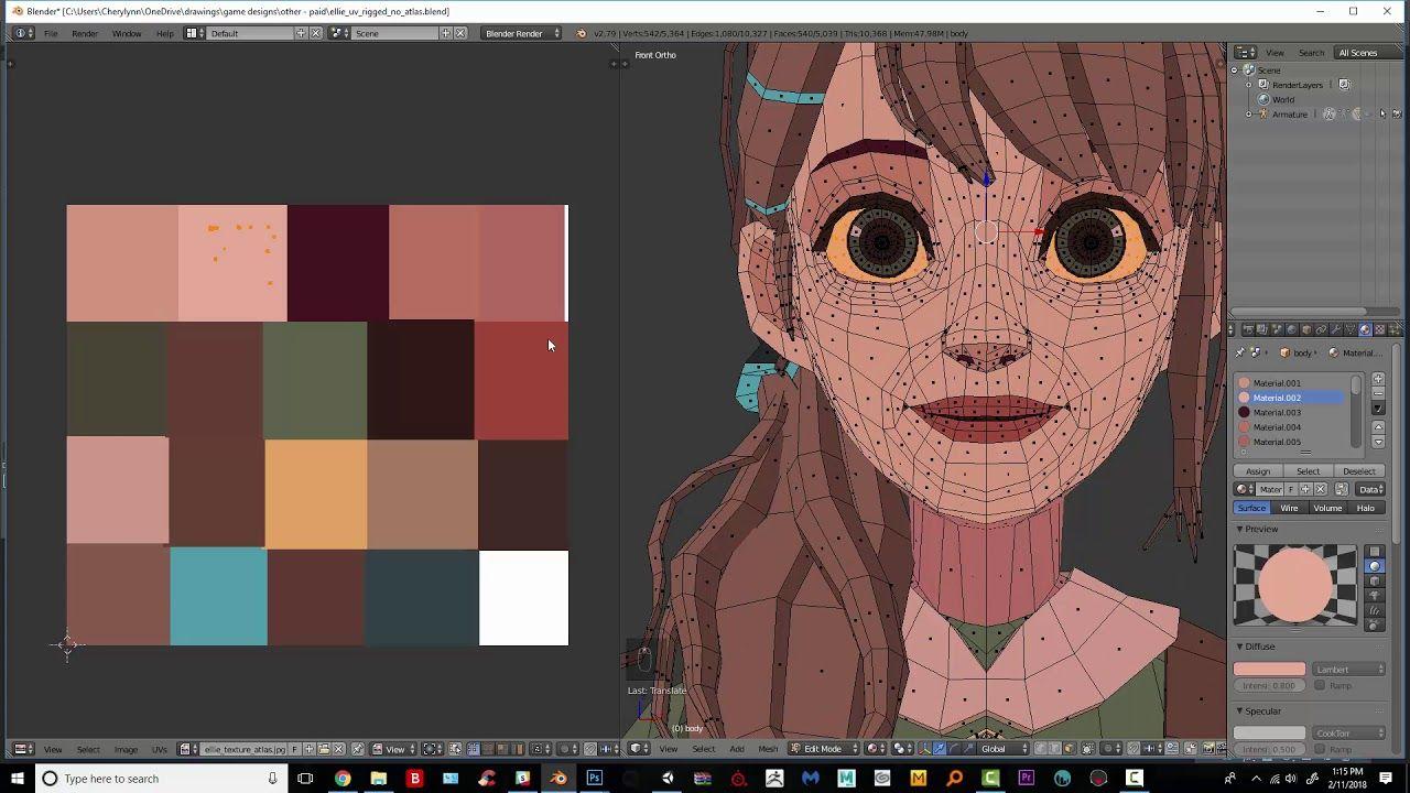 Easy UV Unwrapping w/ Texture Atlas Blender Beginner