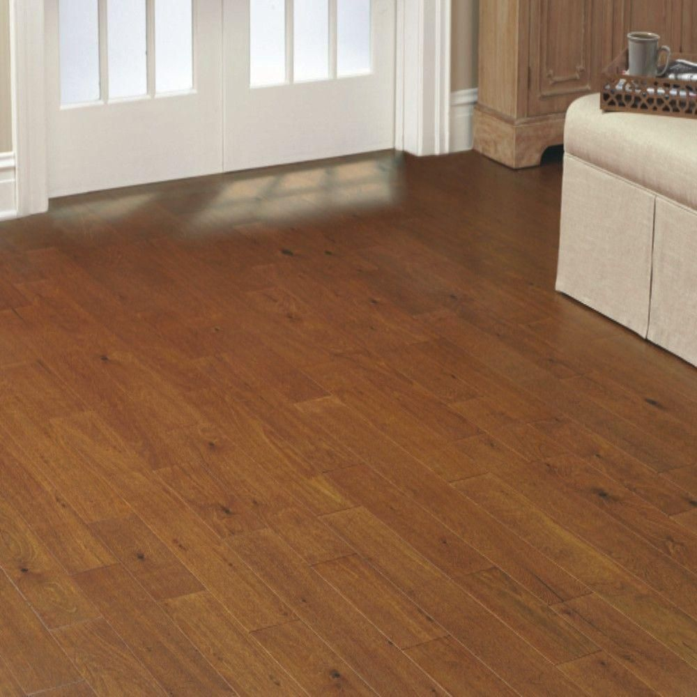 Hdc eucalyptus amber hand scraped 3 8 in x 5 in wide x for Click hardwood flooring