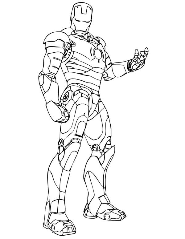 The Invincible Iron Man Coloring Page Superhero Coloring Avengers Coloring Pages Superhero Coloring Pages