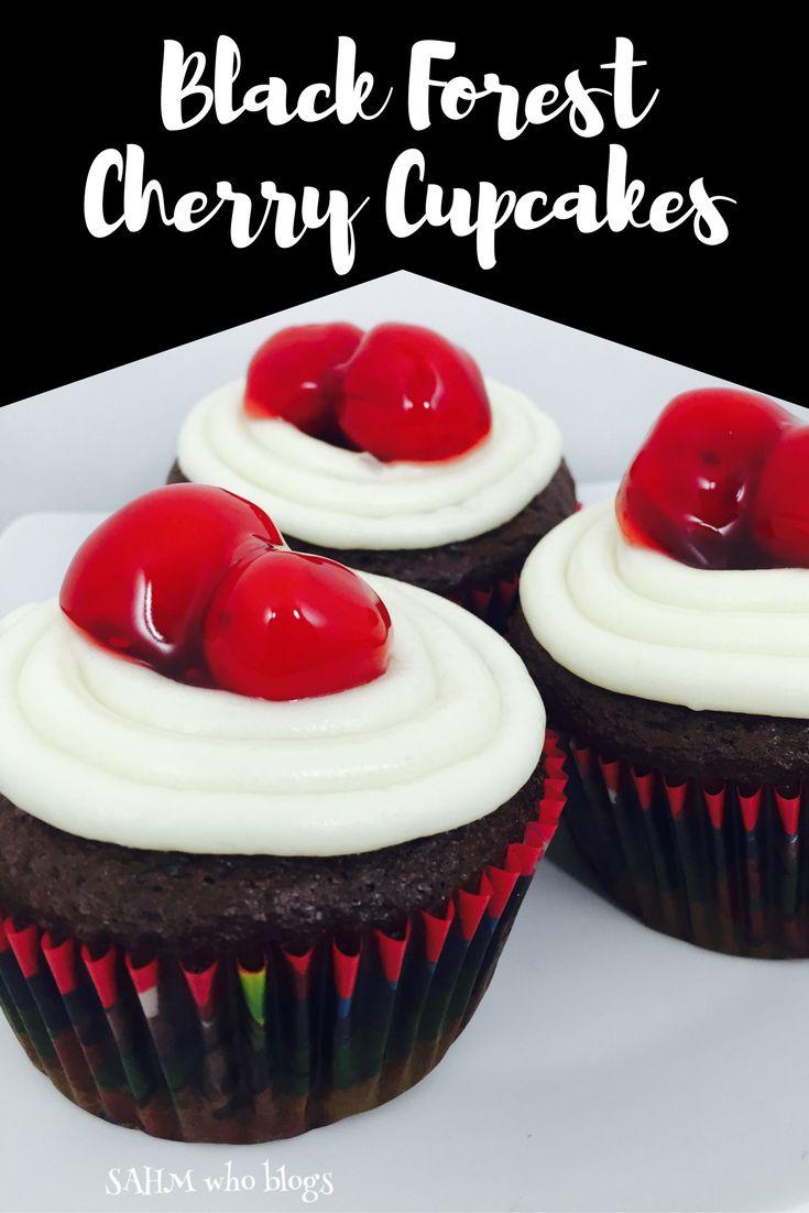 Black Forest Cherry Cupcake Recipe