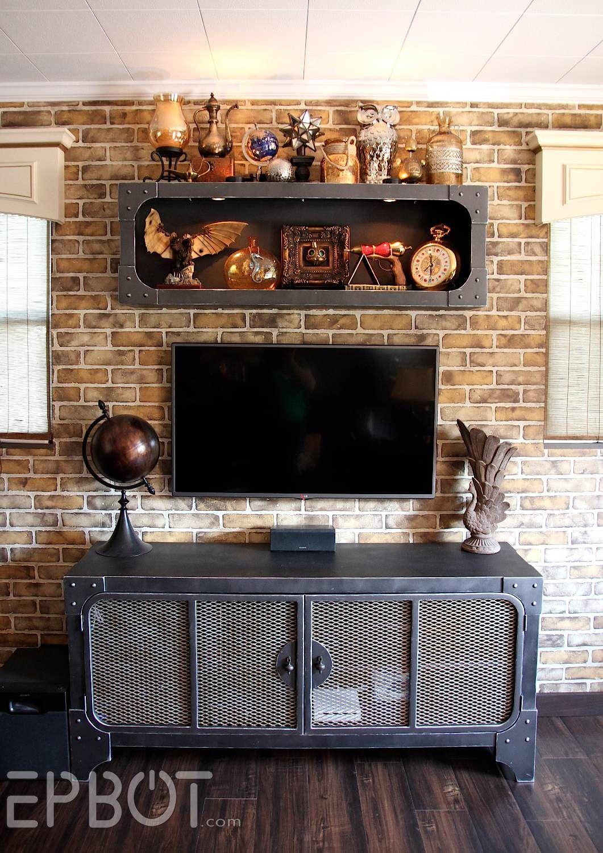 Interior design-ideen wohnzimmer mit tv finished steampunk tv cabinet u shelf reveal epbot  steam punk