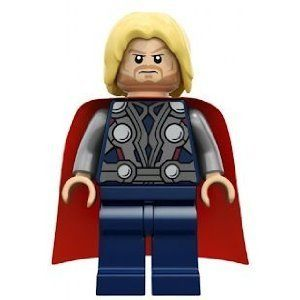 New Genuine LEGO Thor Minifig with Sledgehammer Super Heroes 6868 6869