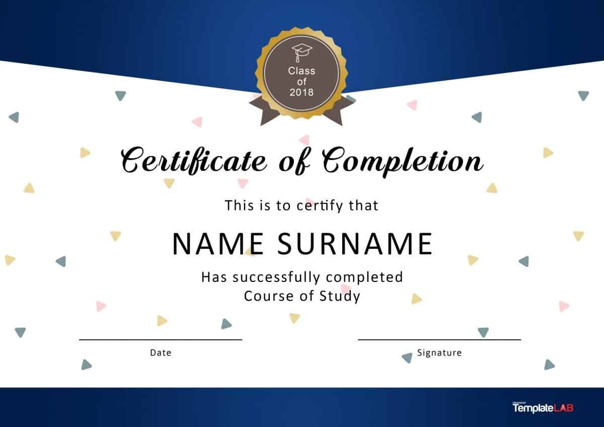 Download Certificate Of Completion 1 Certificate Of Participation Template Certificate Of Completion Template Blank Certificate Template Sample of certificate of achievement
