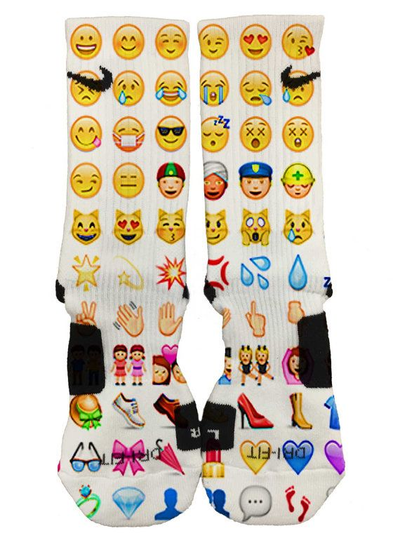 Custom Nike Elite Emoji Socks Fast And Free Shipping Follow Us On Insta At Dailyapparelcustoms Custom Nike Elites Cute Socks Nike Elite