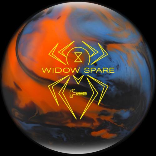 Hammer Widow Spare Blue Orange Smoke Bowling Ball Bowling Accessories Blue Orange