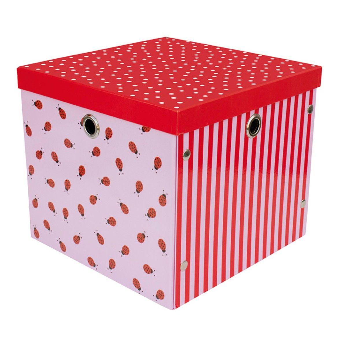 """JaBaDaBaDo Aufbewahrungsbox """"Marienkäfer"""" (Rot)"""