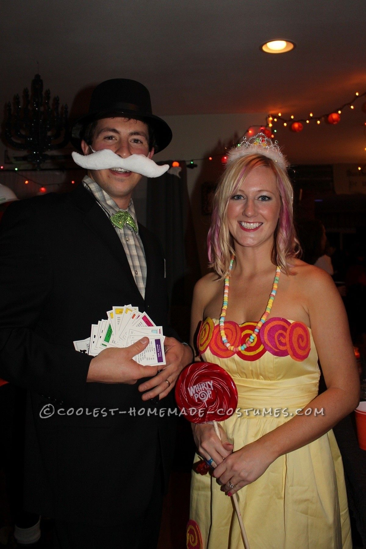 Original Couple Costume Idea Mr Monopoly and Princess Lolli from Candy Land... This website is the Pinterest of costumes  sc 1 st  Pinterest & Original Couple Costume Idea: Mr Monopoly and Princess Lolli from ...