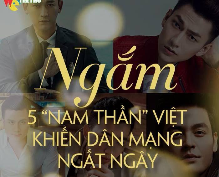 """Ngắm 5 """"nam thần"""" khiến khán giả Việt ngất ngây. Sở hữu gương mặt điển trai cùng ngoại hình ấn tượng, những nam thần này luôn khiến người đối diện phải """"rụng tim"""" <3 <3"""