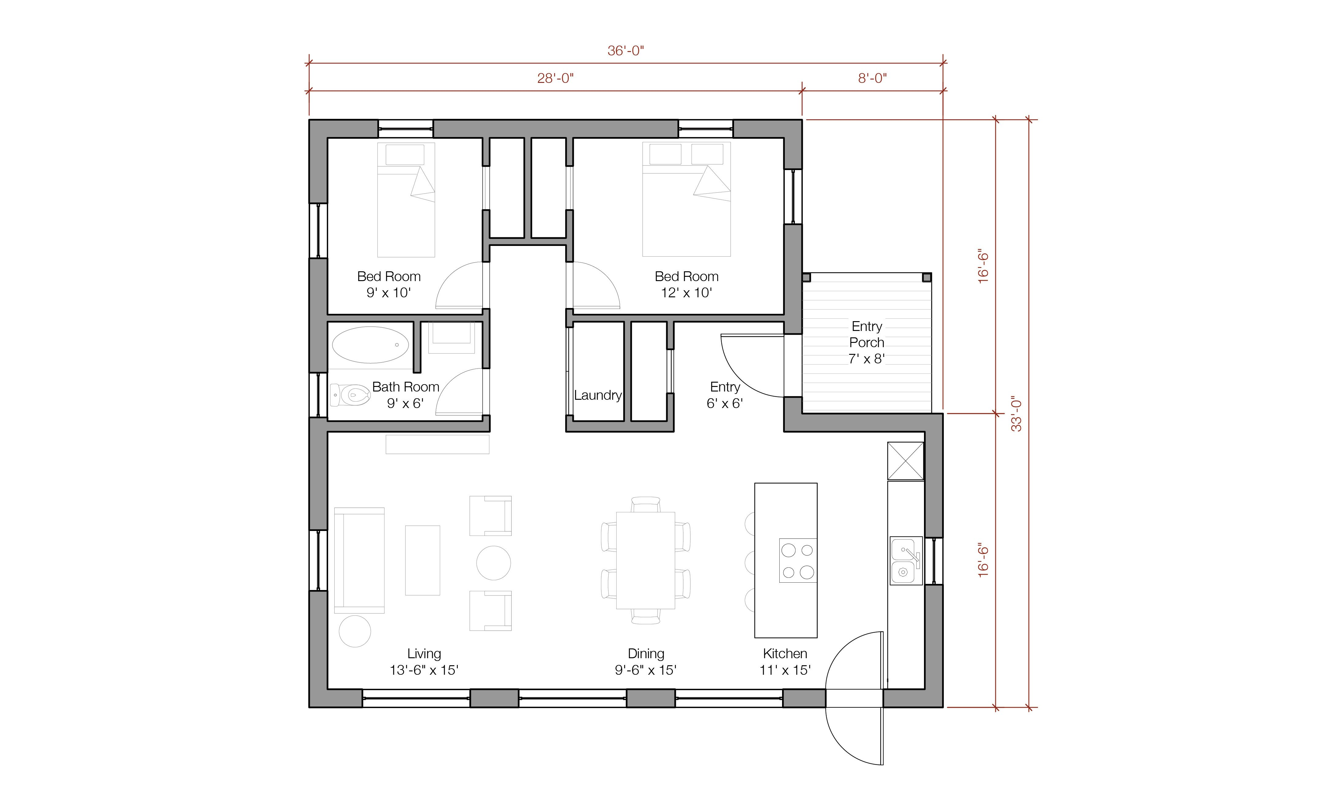1100 Sq Foot House Plans | 1100 square foot energy-efficient ...