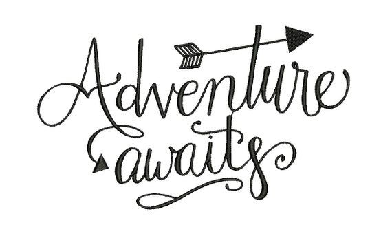 Adventure Awaits Embroidery Design, outdoor Embroidery, camping Embroidery Design, Girl embroidery desing, baby embroidery, boy embroidery