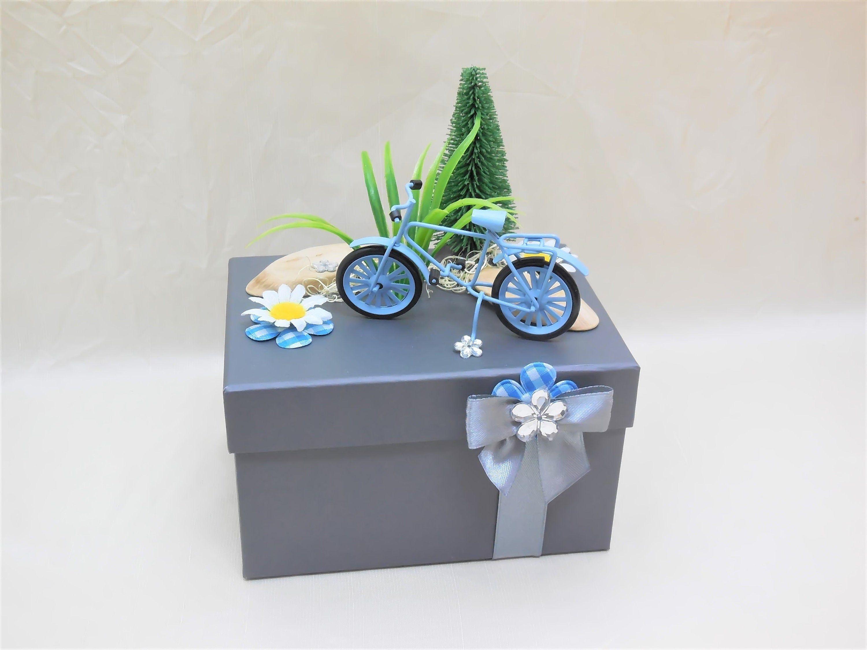 Geschenkbox Fahrrad, Geldgeschenk, Gutschein Fahrrad, Geburtstagsgeschenk, Gutschein verpacken, Geschenkbox Gutschein, Männer, Radfahrer