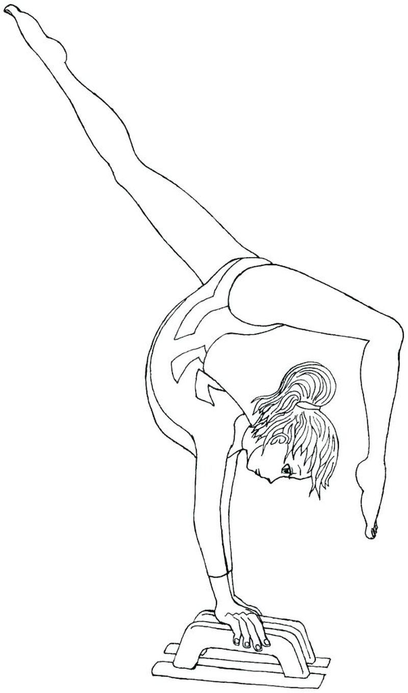 Gymnastics Coloring Pages Free Printable Bing Images Sports Coloring Pages Coloring Pages For Girls Cute Coloring Pages