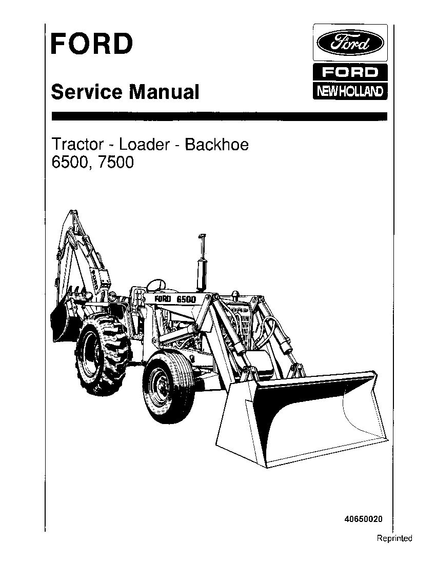 New Holland Ford 6500 7500 Tractor Loader Backhoe Workshop