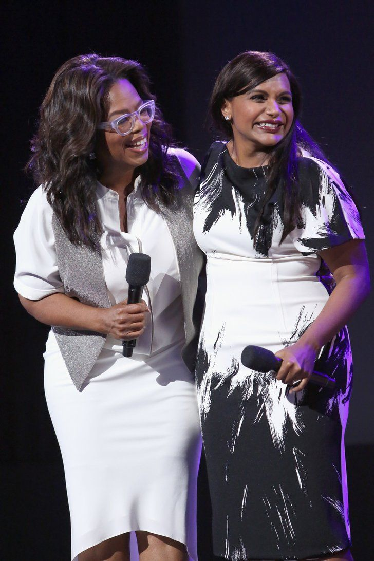 Leave It To Mindy Kaling To Have The Best Response To Oprah S Golden Globe Award Mindy Kaling Oprah Celebrities