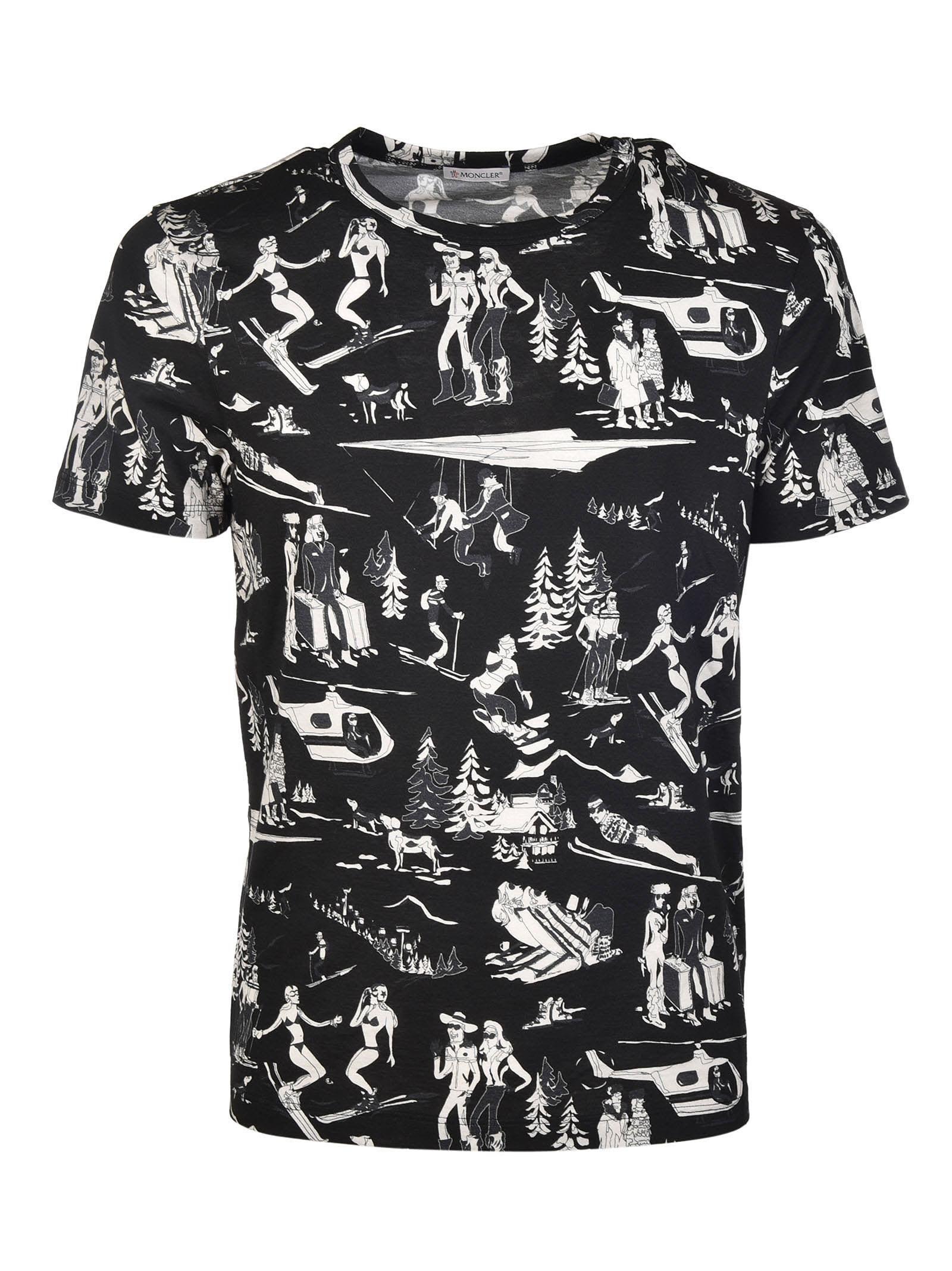 MONCLER GIRO CREWNECK T-SHIRT. #moncler #cloth #