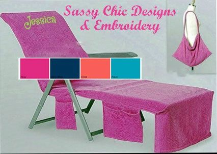 personalized beach chairs. 38.00 Beach Towel/Towel Chair Cover/Personalized Cover/Lounge Cover/ Personalized Chairs A