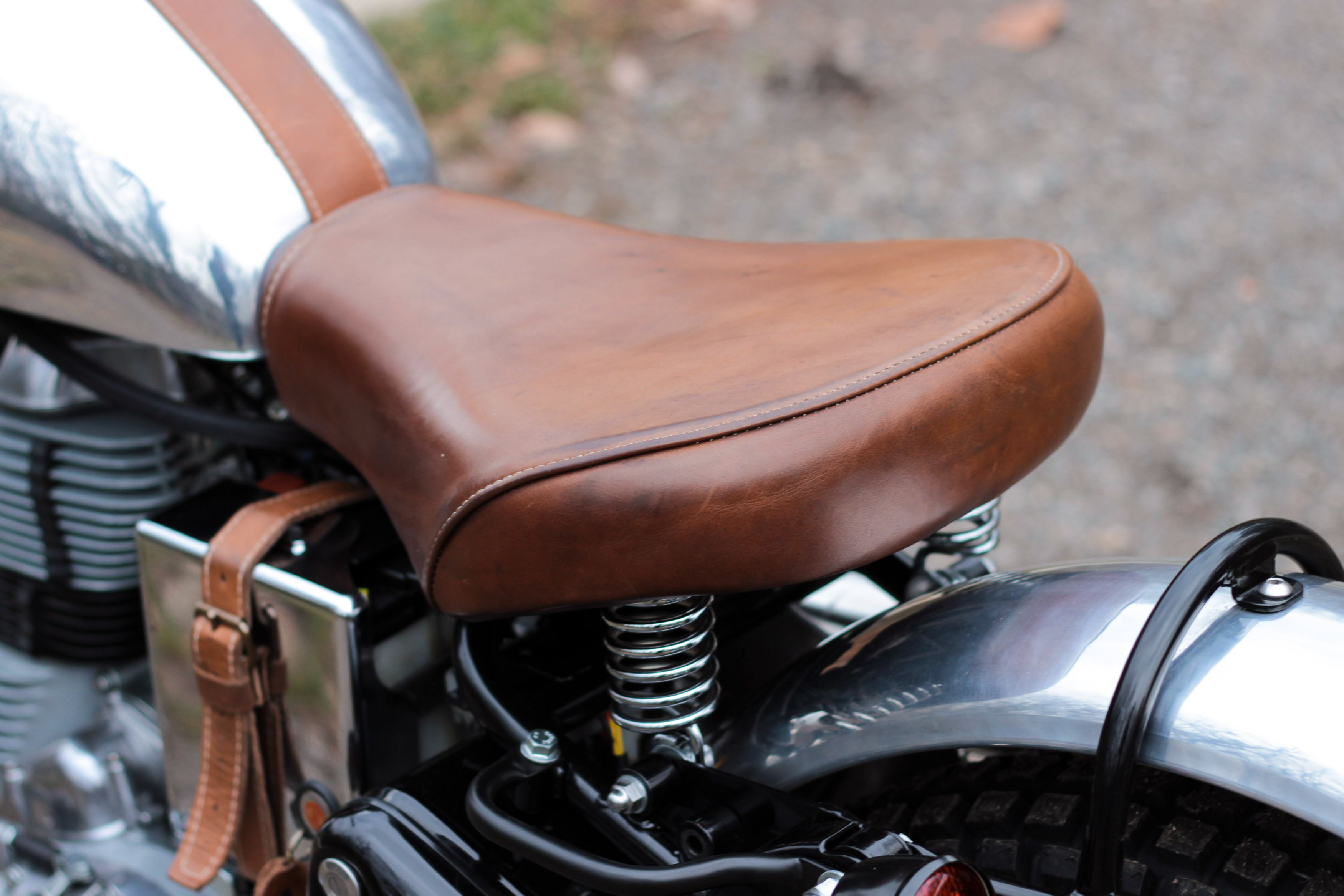 Remarkable Leather Seat And Battery Cover Strap For Royal Enfield By Evergreenethics Interior Chair Design Evergreenethicsorg