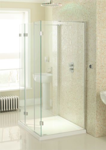 3 Sided 8mm Glass Simpsons Crosswater Design View 1000mm Triple Sided Walk In Shower Enclosur Glass Shower Enclosures Walk In Shower Enclosures Shower Cubicles